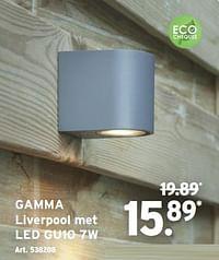 Gamma liverpool met led gu10 7w-Gamma