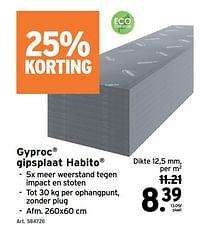 Gyproc gipsplaat habito-Gyproc