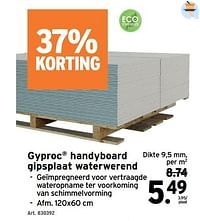 Gyproc handyboard gipsplaat waterwerend-Gyproc