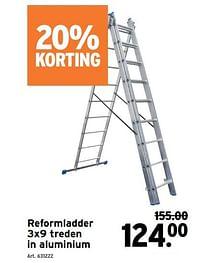 Reformladder in aluminium-Huismerk - Gamma