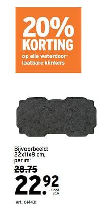 Waterdoorlaatbare klinkers-Huismerk - Gamma