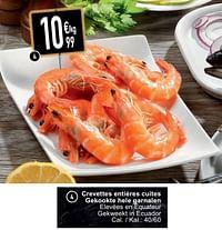 Crevettes entières cuites gekookte hele garnalen-Huismerk - Cora