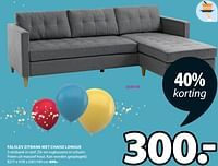 Falslev zitbank met chaise longue-Huismerk - Jysk