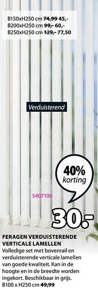 Feragen verduisterende verticale lamellen-Huismerk - Jysk