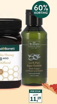 100 % pure argan huidolie-De Tuinen