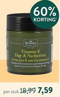 Vitamine e dag-+ nachtcrème crème jour + nuit à la vitamine e-De Tuinen