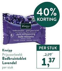Badbruistablet lavendel-Kneipp