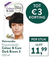Colour + care dark brown 3-Hairwonder