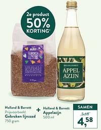 Gebroken lijnzaad + appelazijn-Huismerk - Holland & Barrett