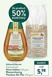 Havervlokken bloemenhoning vloeibaar bio fles-Huismerk - Holland & Barrett
