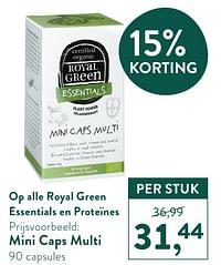 Mini caps multi-Royal Green