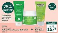 Refresh citrus creamy body wash + skin food body butter-Weleda