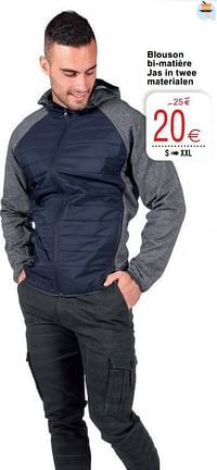Blouson bi-matière jas in twee materialen-Huismerk - Cora
