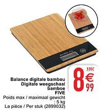 Balance digitale bambou digitale weegschaal bamboe five-Five