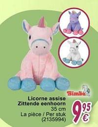 Licorne assise zittende eenhoorn-Simba