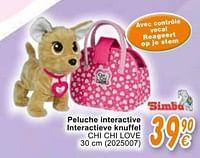 Peluche interactive interactieve knuffel chi chi love-Simba