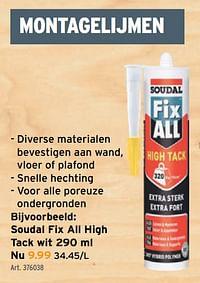 Soudal fix all high tack wit-Soudal