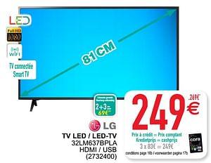 Lg tv led - led-tv 32lm637bpla