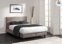 Dream Comfort Boxspring Be Positive 140 x 200 cm greige-Dream Comfort