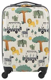 HEMA Koffer - 55x35x20 - Safari Kids (wit)-Huismerk - Hema