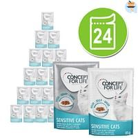 24x85g Gemengd Gelei & Saus All Cats in Saus en Gelei Concept for Life Kattenvoer-For You
