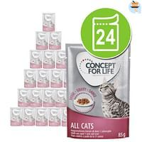 24x85g Light Cats in Saus Concept for Life Kattenvoer-For You