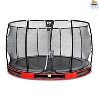 Exit in-ground trampoline Elegant Premium met veiligheidsnet Deluxe ø366cm rood-Exit