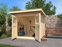 Weka tuinhuis 179 GR.4 naturel 295x239cm-Weka