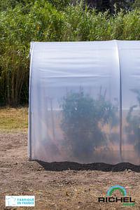 Complément de longueur serre largeur 300cm Richel polyéthylène acier transparent gris 150cm-Garden Gourmet