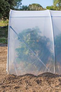 Complément de longueur serre largeur 450cm Richel polyéthylène acier transparent gris 150cm-Garden Gourmet