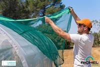 Voile d'ombrage serre Richel polyethylène vert 4x1,5m-Garden Gourmet
