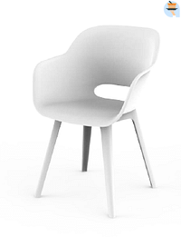 Akola cup chaise blanche-Keter