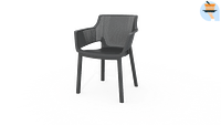 Chaise de jardin empilable Keter Elisa graphite-Keter