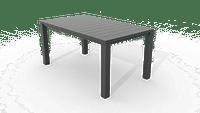Table de jardin Allibert Julie graphite 147x90 cm-Keter