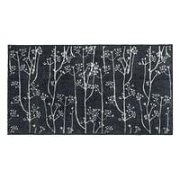 Universal mat Dandelions - grijs - 67x120 cm - Leen Bakker-Huismerk - Leen Bakker