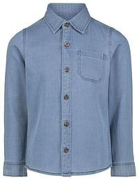 HEMA Kinderoverhemd Denim Lichtblauw (lichtblauw)-Huismerk - Hema