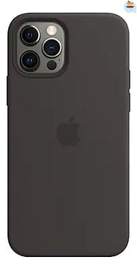 Apple siliconen cover voor iPhone 12/12 Pro Black-Apple
