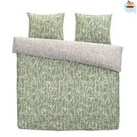 At Home by Beddinghouse dekbedovertrek Rustle - groen - 200x200/220 cm - Leen Bakker-At Home