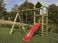 BnB Wood schommel Little Eden met rode glijbaan-BNB Wood