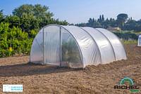 Tunnelserre Richel 1 deur polyethyleen grijs transparant staal 450x450x225cm 20,25m²-Garden Gourmet