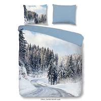 Good Morning dekbedovertrek in flanel Snowyroad - veelkleurig - 200x200/220 cm - Leen Bakker-Good Good
