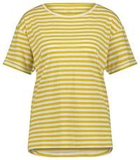 HEMA Dames T-shirt Strepen Geel (geel)-Huismerk - Hema