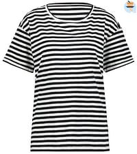 HEMA Dames T-shirt Strepen Zwart/wit (zwart/wit)-Huismerk - Hema