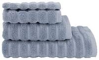 HEMA Handdoek Zware Kwaliteit Structuur Donkergrijs Blauw (blauw)-Huismerk - Hema