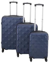 HEMA Koffer - 67x44x25 - Structuur - Donkerblauw (donkerblauw)-Huismerk - Hema