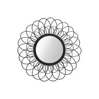 HSM Collection spiegel Sunshine - zwart - Ø90 cm - Leen Bakker-Mar Collection