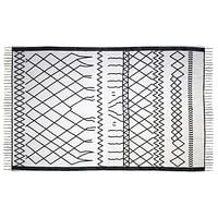 HSM Collection tapijt Borris - zwart/wit - 180x120 cm - Leen Bakker-Mar Collection
