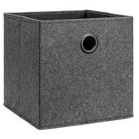 Opbergbox Lille - antracietkleur - 31x31x31 cm - Leen Bakker-Huismerk - Leen Bakker