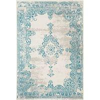 Tapijt Vintage - blauw - 160x230 cm - Leen Bakker-Huismerk - Leen Bakker