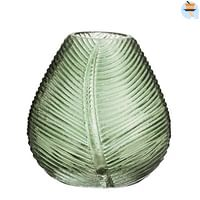 Vaas Richard - groen - 11,5x11 cm - Leen Bakker-Huismerk - Leen Bakker